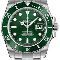 Rolex Submariner Date 116610LV 2015 pre-owned