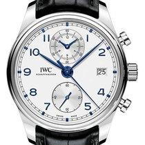 IWC Portuguese Chronograph ny 2019 Automatisk Kronograf Klocka med originallåda och originalhandlingar IW390302