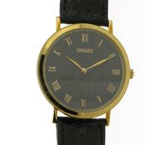 Gucci Жёлтое золото Кварцевые Чёрный Римские 32,55mm новые