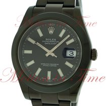 Rolex Datejust II 116300 bkio Black PVD/DLC pre-owned