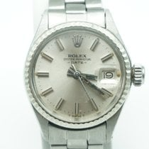 Rolex Oyster Perpetual Lady Date 26mm Silver Stick Oyster Band...