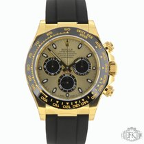 Rolex Daytona Yellow Gold | Rubber Strap | Ceramic Bezel | 116518