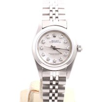 Rolex Ladies Oyster Perpetual No Date - MOP Diamond Dial -...