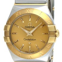Omega Constellation Quartz 24MM Champagne Dial 2 Toned Watch...