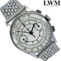 Patek Philippe Chronograph 130 Sector silver dial Full Set 1939's