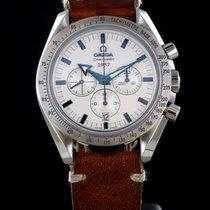 Omega Speedmaster Broad Arrow 1957 blue index and