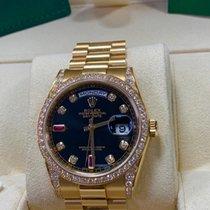 Rolex Day-Date 36mm Yellow Gold Diamonds & Rubies