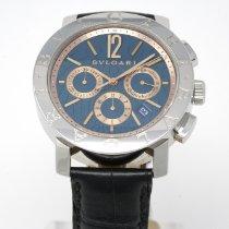 Bulgari Bulgari pre-owned 42mm Black Chronograph Date Leather