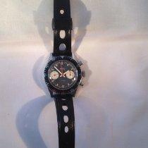 BWC-Swiss Chronograaf 37mm Handopwind 1965 tweedehands Zwart