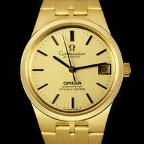 Omega Constellation Yellow gold 33mm Champagne No numerals United Kingdom, London
