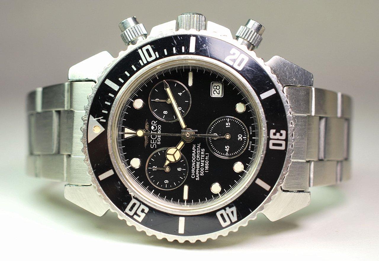 design senza tempo 7e9da d1216 Sector SGE 500 - waterproof chrono - skin diver - cronografo sub