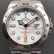 Rolex Explorer II Ocel 42mm Bílá Bez čísel
