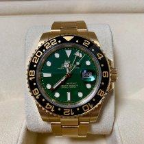롤렉스 GMT-마스터 II 옐로우골드 40mm 녹색 숫자없음 대한민국