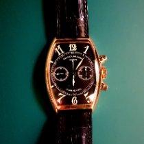 Franck Muller Casablanca pre-owned 32.5mm Black Chronograph Leather