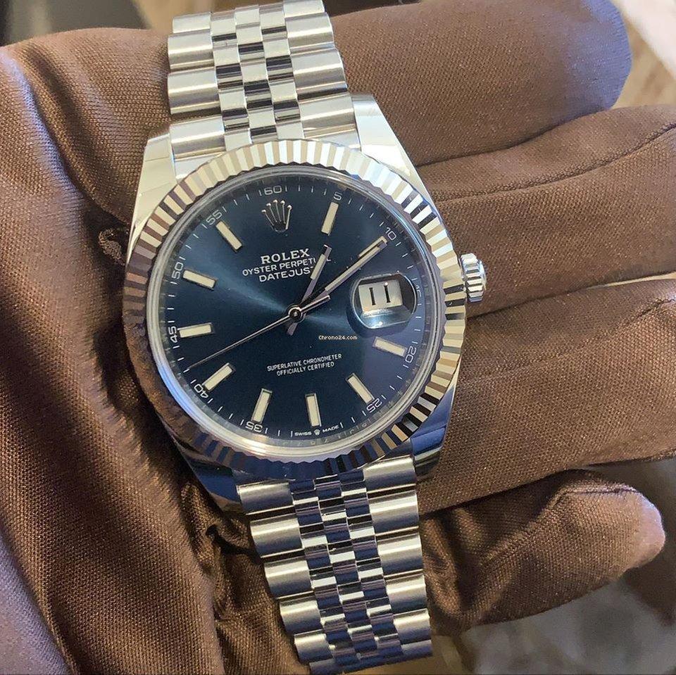 Rolex Datejust 41 126334 Blue Index Dial Jubilee Bracelet Unworn