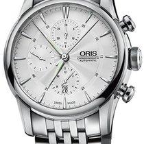 Oris Artelier Chronograph Acero 44mm Plata Sin cifras