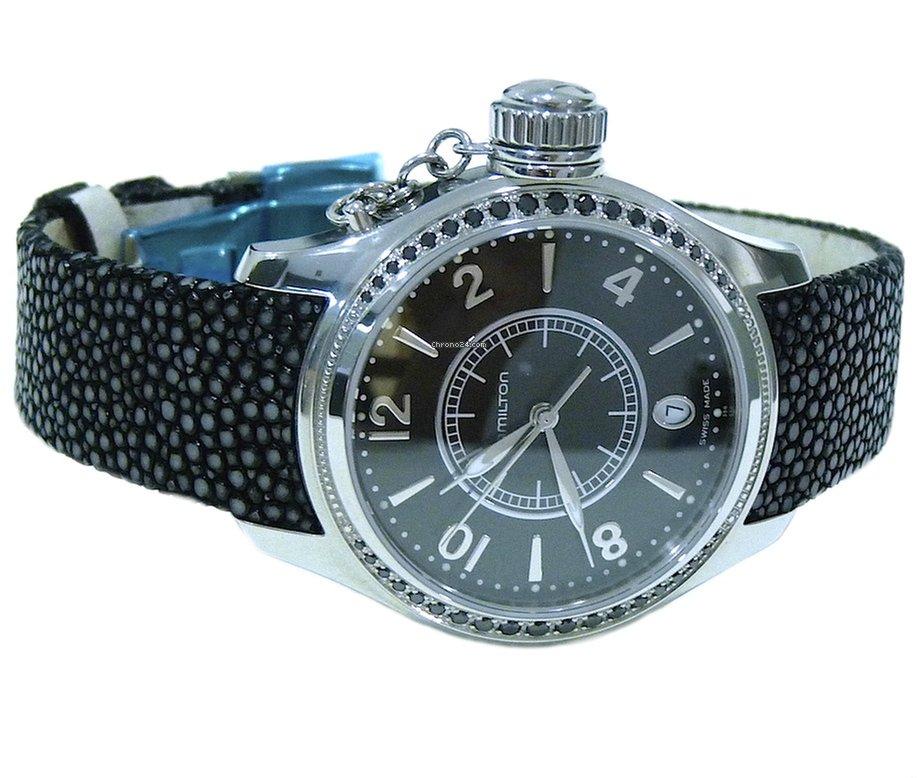 Hamilton Navy Seaqueen Black Diamond Ladies Watch