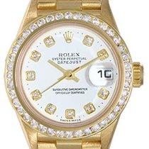 Rolex Ladies Rolex President 18k Yellow Gold Watch with...