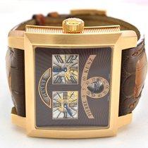 Pierre Kunz SVR Retrograde 18K Rose Gold Watch on Saddle...