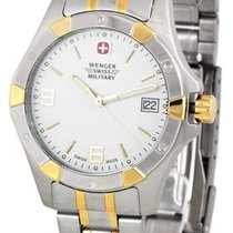 Wenger Swiss Military Womens White Dial Two Tone Stainless...