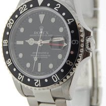Rolex Mens GMT-MASTER II Stainless Steel Mens Watch & Box F 16710