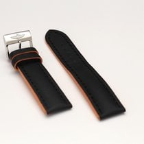 Breitling Black/Orange Silicone Strap with buckle 22/20mm 230X