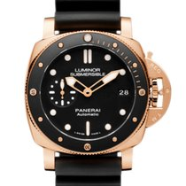 Panerai Red gold Automatic Black 42mm new Luminor Submersible 1950 3 Days Automatic
