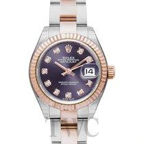 Rolex Lady-Datejust Złoto różowe 28mm Fioletowy