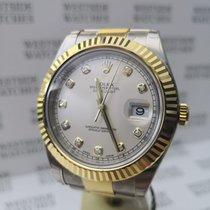 Rolex Yellow gold Automatic White No numerals 41mm new Datejust II