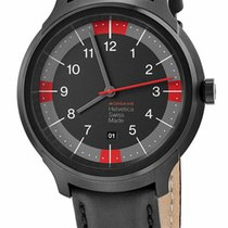 Mondaine Helvetica Steel 43mm Black United States of America, New York, Monsey