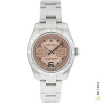 Rolex Oyster Perpetual 26 Steel 26mm Pink Arabic numerals