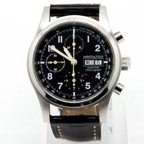 Hamilton Khaki Field occasion 42mm Chronographe Date Affichage des jours Cuir