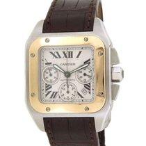 Cartier Chronograph 42mm Automatik neu Santos 100 Weiß