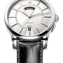 Maurice Lacroix Pontos Day/Date Silver Dial and Index, Black...