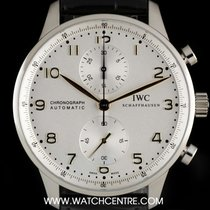 IWC Stainless Steel Silver Dial Portuguese Chrono IW371445