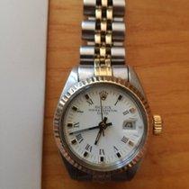 Rolex Lady-Datejust Or/Acier 26mm Blanc Romains
