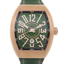 法兰克穆勒 Vanguard Rose Gold Green Automatic V 45 Sc Dt Cir Bz...