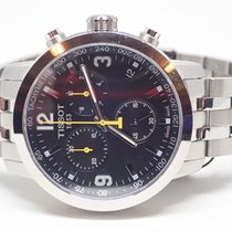 Tissot PRC 200 Black Dial Chronograph Stainless Watch T055.417...