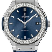 Hublot Classic Fusion Blue Titanium Diamonds