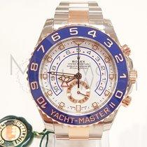 Rolex Yacht-Master II Ouro/Aço 44mm Branco