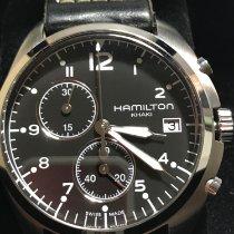 Hamilton Khaki Pilot Pioneer pre-owned 41mm Black Chronograph Date Steel