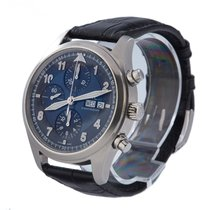 IWC Pilot Chronograph Acero 42mm Azul Árabes