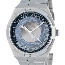 Vacheron Constantin Overseas World Time Acier 43mm Bleu Arabes