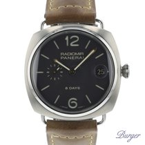 Panerai Radiomir 8 Days tweedehands 45mm Grijs Leer