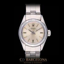 Rolex Oyster Perpetual Stal 26mm Srebrny Rzymskie