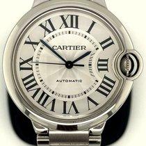 Cartier Ballon Bleu 36mm Stahl 36mm Silber Römisch
