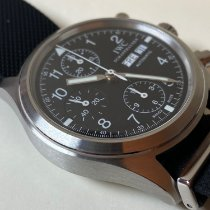 IWC Pilot Chronograph Steel 39mm Black Arabic numerals