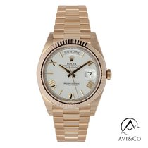 Rolex Day-Date 40 Rose gold 40mm White Roman numerals United States of America, New York, New York