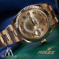 Rolex New Rolex Sky-dweller 326938 18k Yellow Gold Champagne...