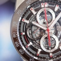 TAG Heuer Carrera Calibre Heuer 01 43 Brown Steel on Leather...